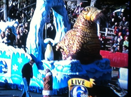 Andy Reid Leads Parade Float